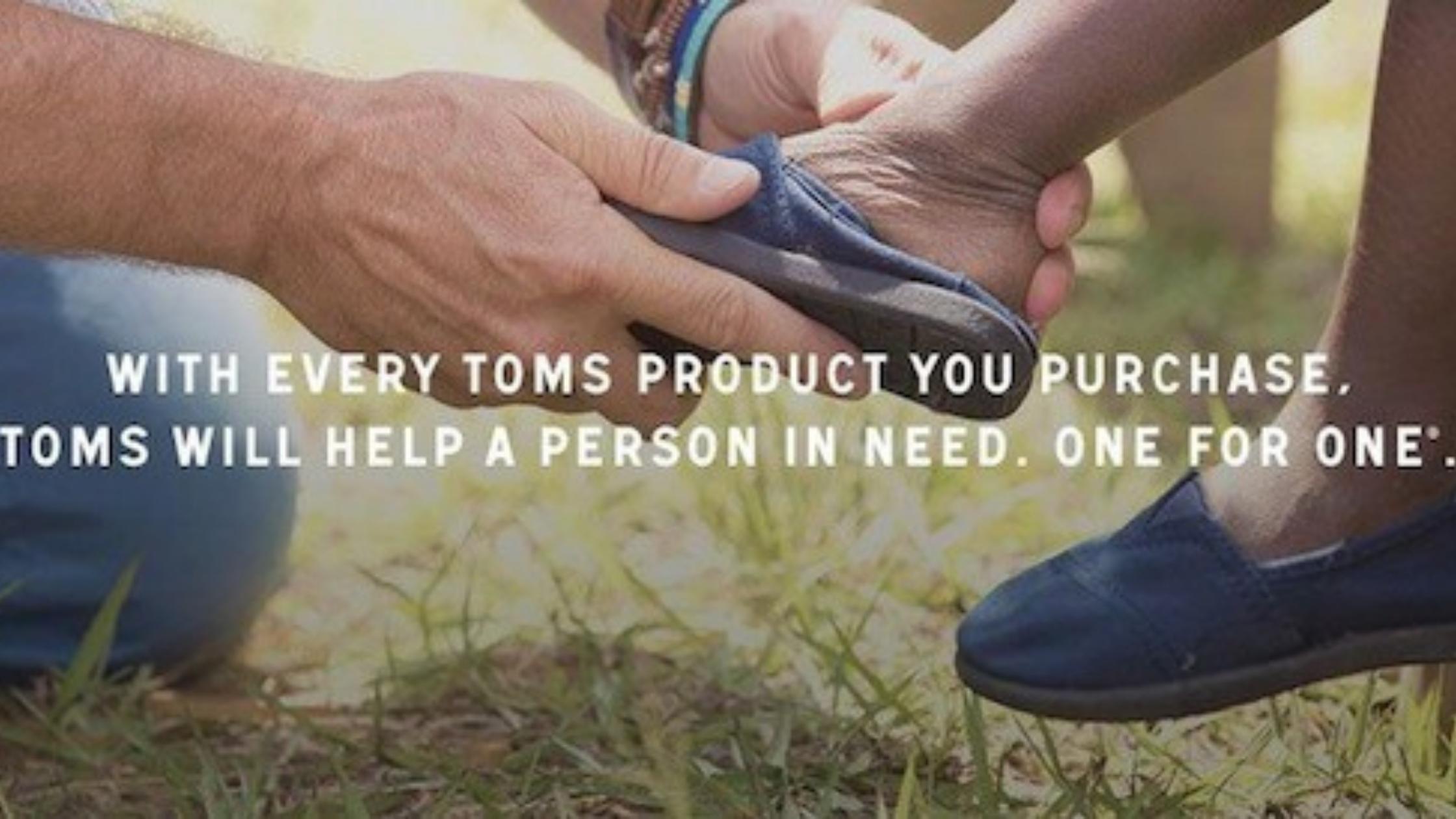 Toms USP as their business purpose